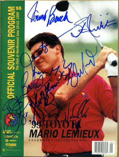 Mario Lemieux Invitational signed Program, 9 signatures
