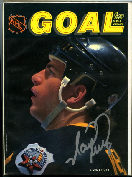 Mark Recchi, Pittsburgh Penguins signed Goal magazine