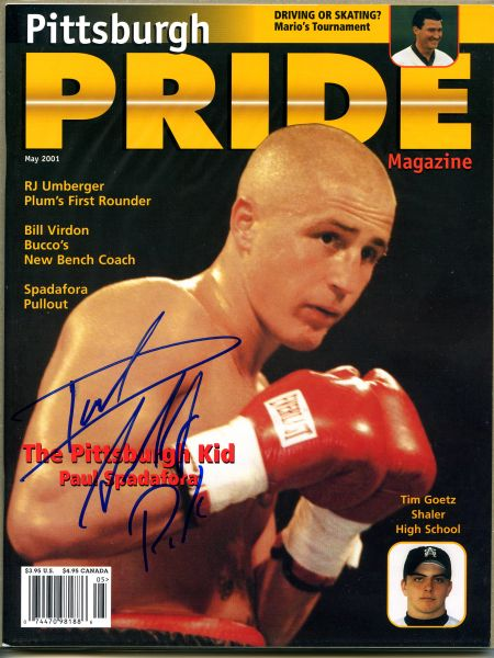 Paul Spadafora signed Pittsburgh Pride magazine