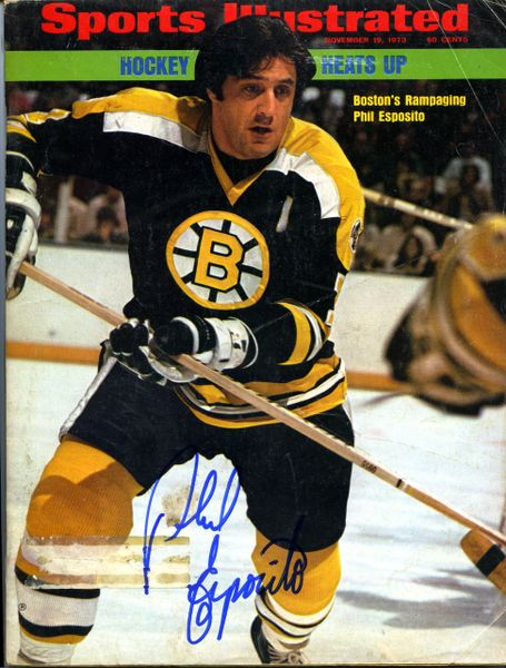 Phil Espositio, Boston Bruins signed Sports Illustrated