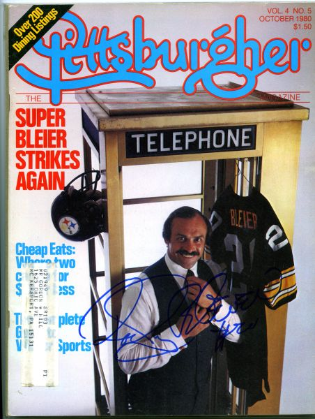 Rocky Bleier, Pittsburgh Steelers signed Pittsburgher magazine