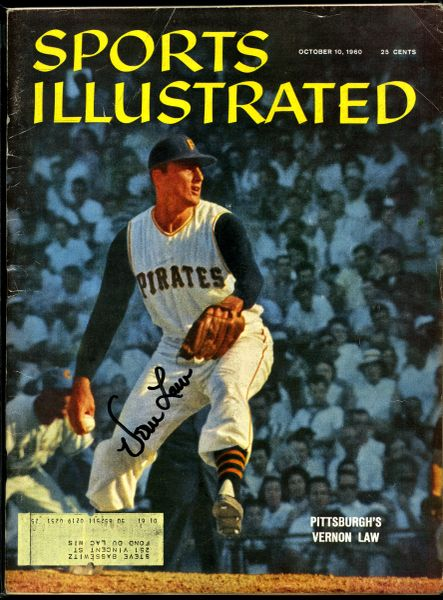 Vernon Law, Pittsburgh Pirates signed Sports Illustrated