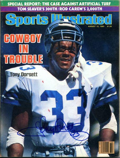 Tony Dorsett, Dallas Cowboys signed Sports Illustrated