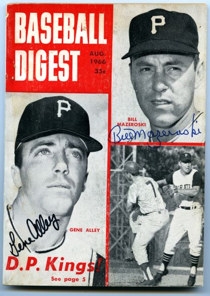 Bill Mazeroski & Gene Alley, Pirates signed 1966 Baseball Digest