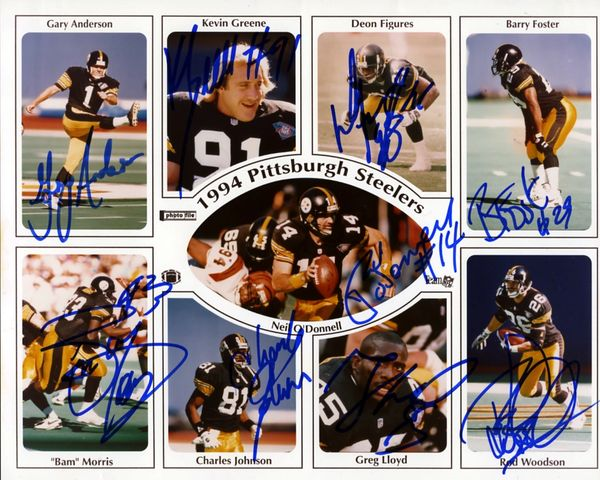 1994 Pittsburgh Steelers signed photo