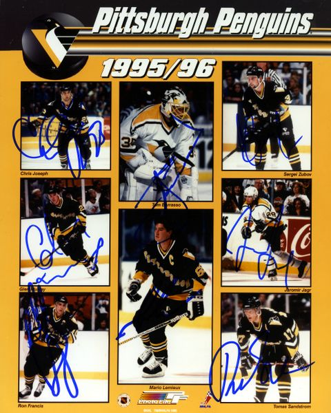 1995-96 Pittsburgh Penguins signed 8x10 photo