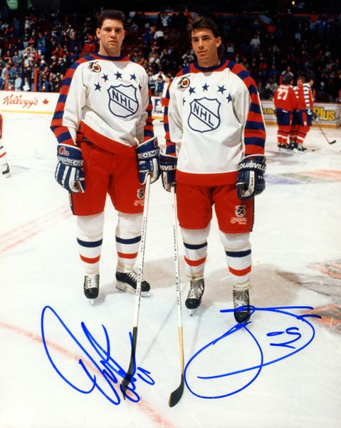 1991-92 Quebec Nordiques All Star Game signed 8x10 photo