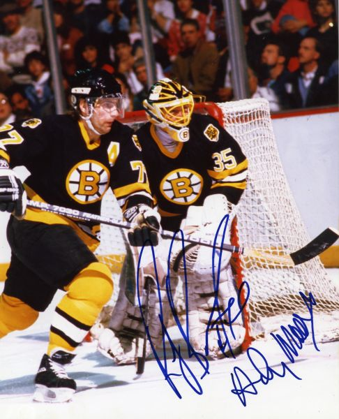 Ray Bourque & Andy Moog - Boston Bruins signed 8x10 photo