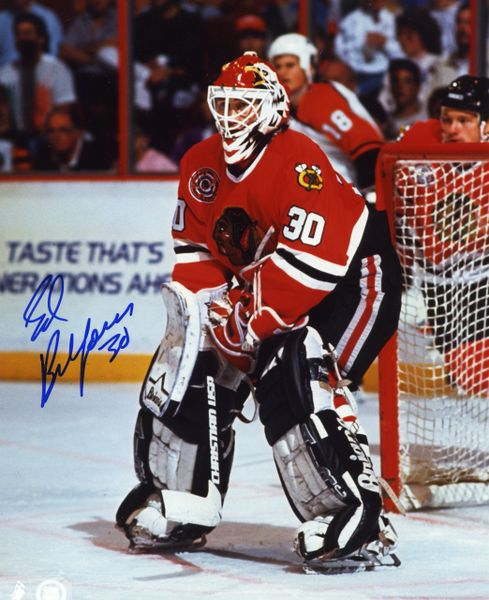 Ed Belfour - Chicago Blackhawks signed 8x10 photo