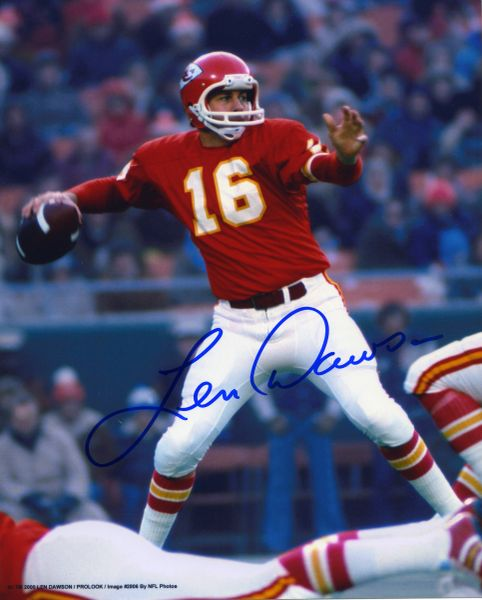 Len Dawson - Kansas City Chiefs signed 8x10 photo