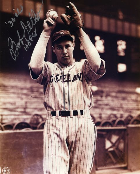 Bob Feller - Cleveland Indians signed 8x10 photo