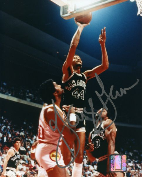 George Gervin - San Antonio Spurs signed 8x10 photo