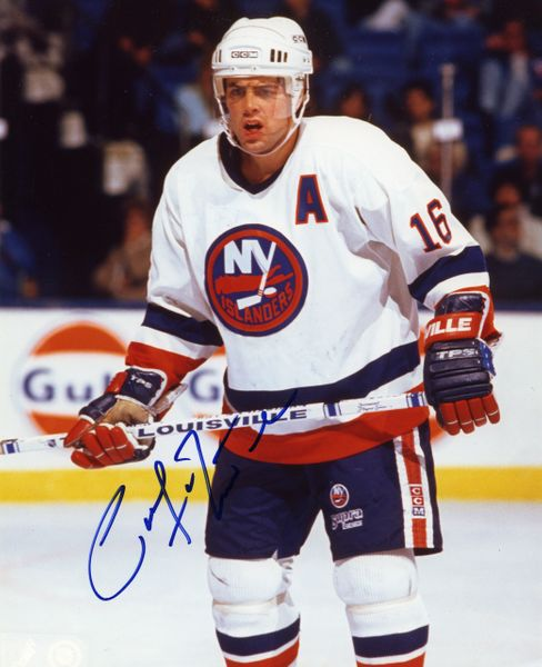 Pat Lafontaine - New York Islanders signed 8x10 photo