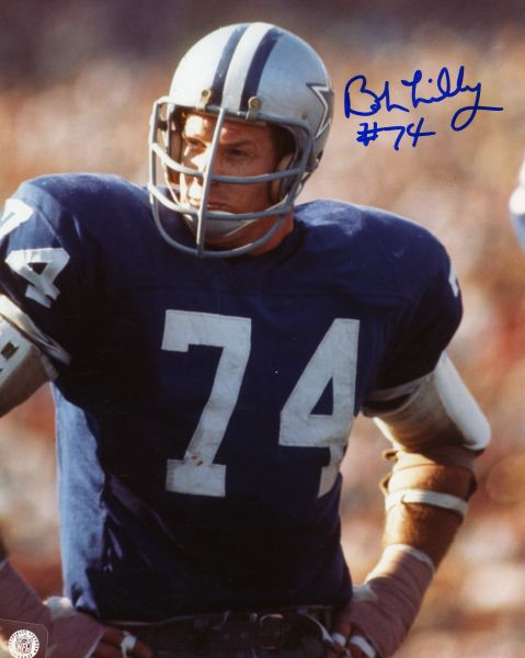 Bob Lilly - Dallas Cowboys signed 8x10 photo