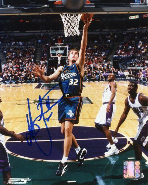 Christian Laettner - Detroit Pistons signed 8x10 photo