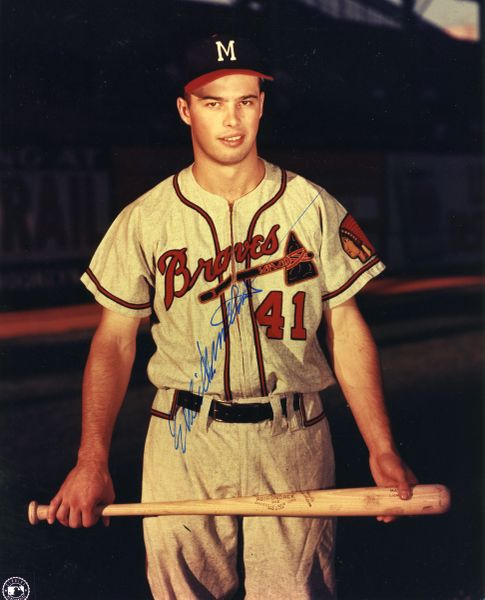 Eddie Mathews - Milwaukee Braves signed 8x10 photo