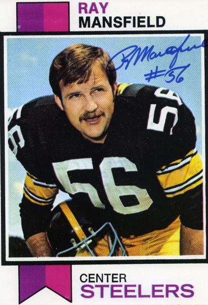 Ray Mansfield - Pittsburgh Steelers signed paper photo
