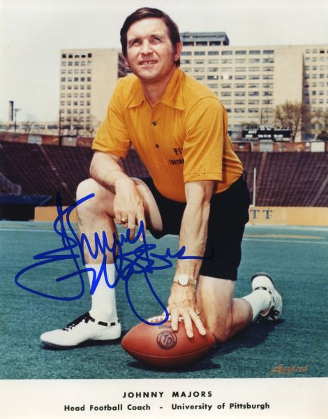 Johnny Majors - Pitt Panthers signed 8x10 photo