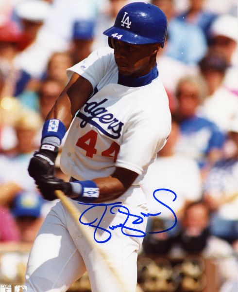 Darryl Strawberry - Los Angeles Dodgers signed 8x10 photo