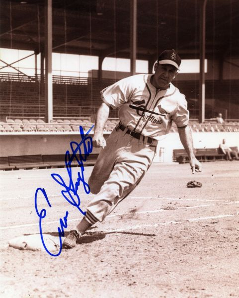 Enos Slaughter - St. Louis Cardinals signed 8x10 photo