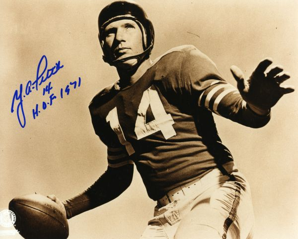 Y.A. Tittle - New York Giants, LSU signed 8x10 photo