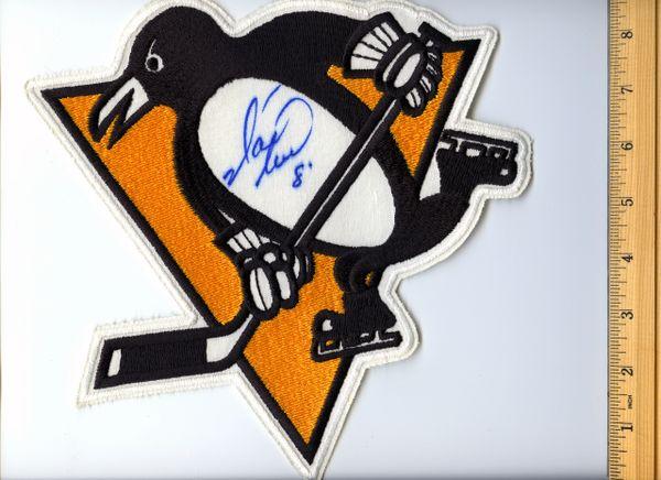 Mark Recchi #8 signed Penguins jersey crest patch