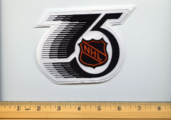 1992 NHL 75th year anniversary jersey patch