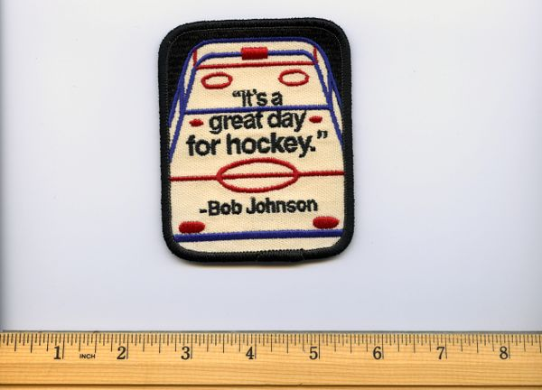 Coach Bob Johnson, Pittsburgh Penguins original commemorative patch