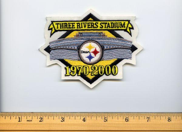 2000 Three Rivers Stadium 30 year anniversary patch, Steelers