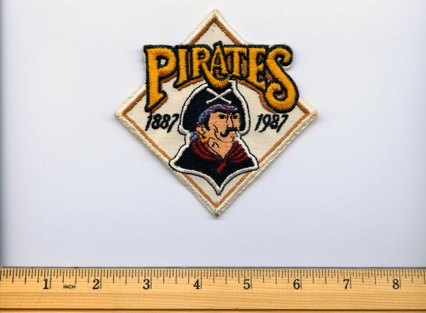 1987 Pittsburgh Pirates 100 year anniversary jersey patch