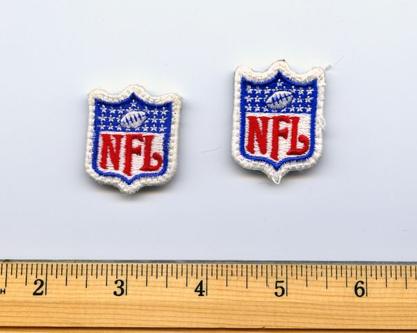 "(2) small 1"" NFL logo patches"