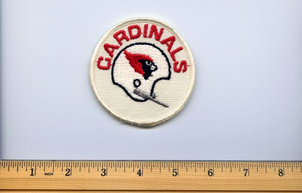 "1970's St. Louis football Cardinals 3"" patch"