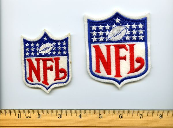 (2) NFL logo patches, 1980's
