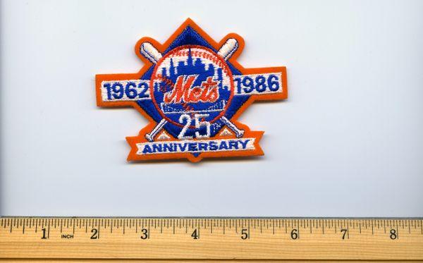 1986 original New York Mets 25 year anniversary patch