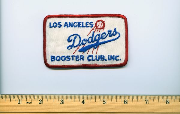 1960's Los Angeles Dodgers Booster Club Inc. patch