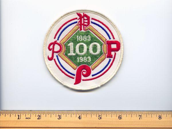 1983 original Philadelphia Phillies 100 year anniversary patch