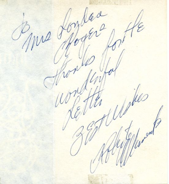 Roberto Clemente original autograph - Thank You card and envelope