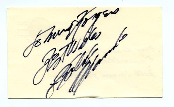 Roberto Clemente original autograph - Postcard