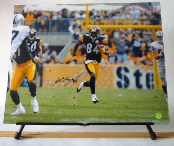 Antonio Brown, Pittsburgh Steelers signed 16x20 photo