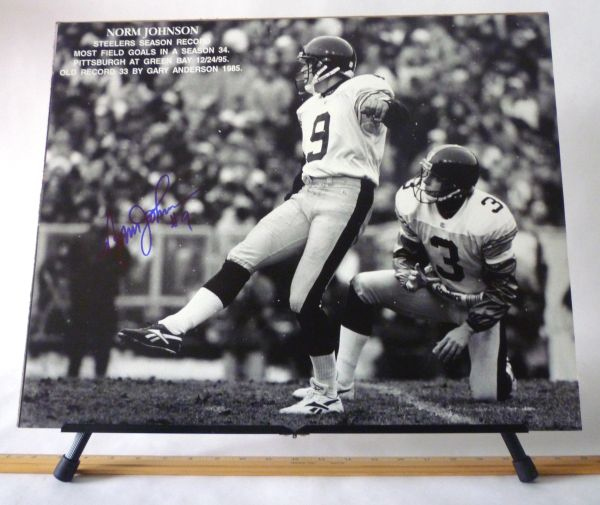 Norm Johnson, Pittsburgh Steelers signed 16x20 photo