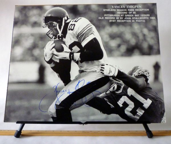 Yancey Thigpen, Pittsburgh Steelers signed 16x20 photo