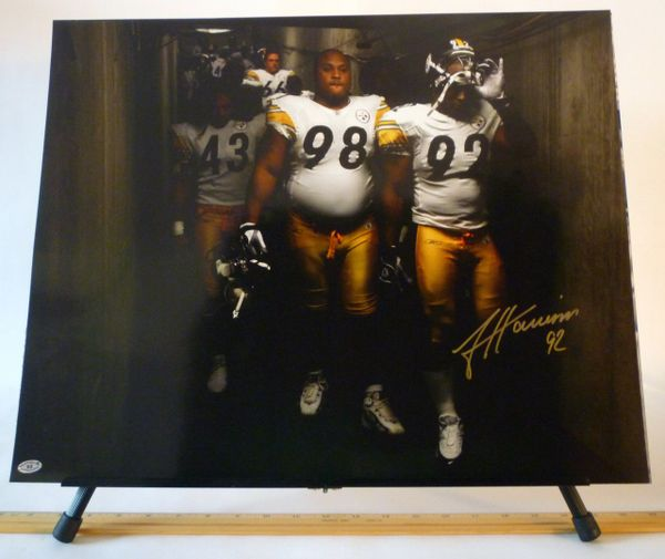 James Harrison, Pittsburgh Steelers signed 16x20 photo