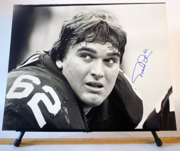 Tunch Ilkin, Pittsburgh Steelers signed 16x20 photo