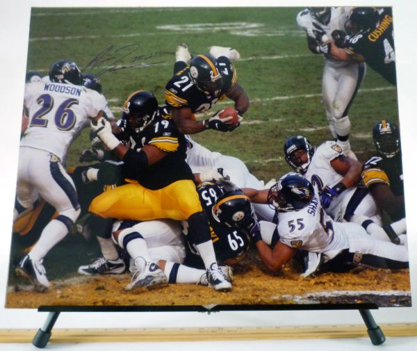 Amos Zereoue, Pittsburgh Steelers signed 16x20 photo