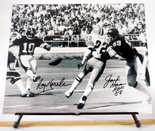 Roy Gerela & Jack Ham, Pittsburgh Steelers signed 16x20 photo
