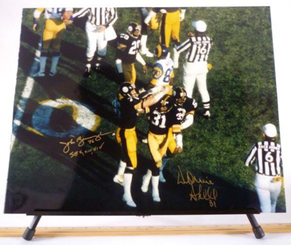 John Banaszak & Donnie Shell, Pittsburgh Steelers signed 16x20 photo