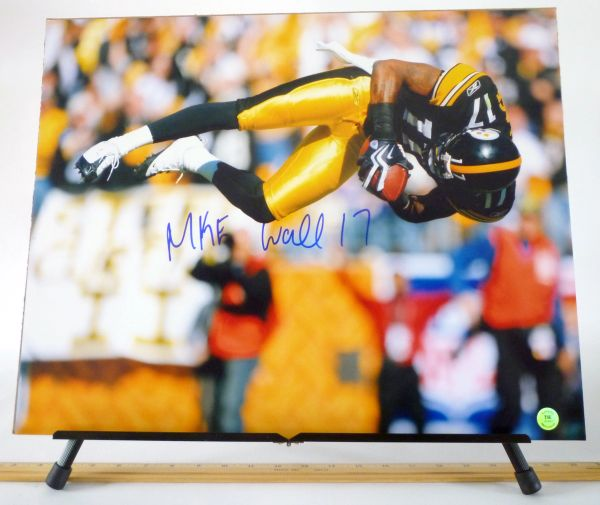 Mike Wallace, Pittsburgh Steelers signed 16x20 photo
