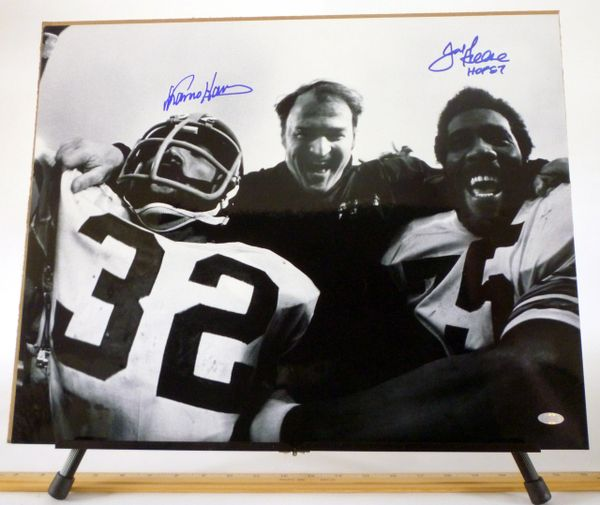Franco Harris & Joe Greene, Pittsburgh Steelers signed 16x20 photo