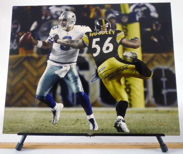 LaMaar Woodley, Pittsburgh Steelers signed 16x20 photo