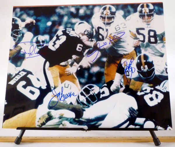 The Steel Curtain, Pittsburgh Steelers signed 16x20 photo